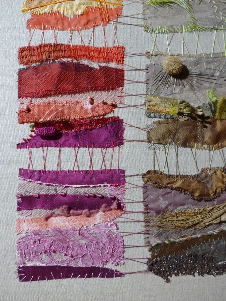 Catherine Tourel unusual patchwork textile art http://catherinetourel.canalblog.com/                                                                                                                                                      Plus