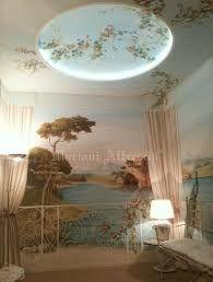 Image result for soffitto trompe l'oeil fiori