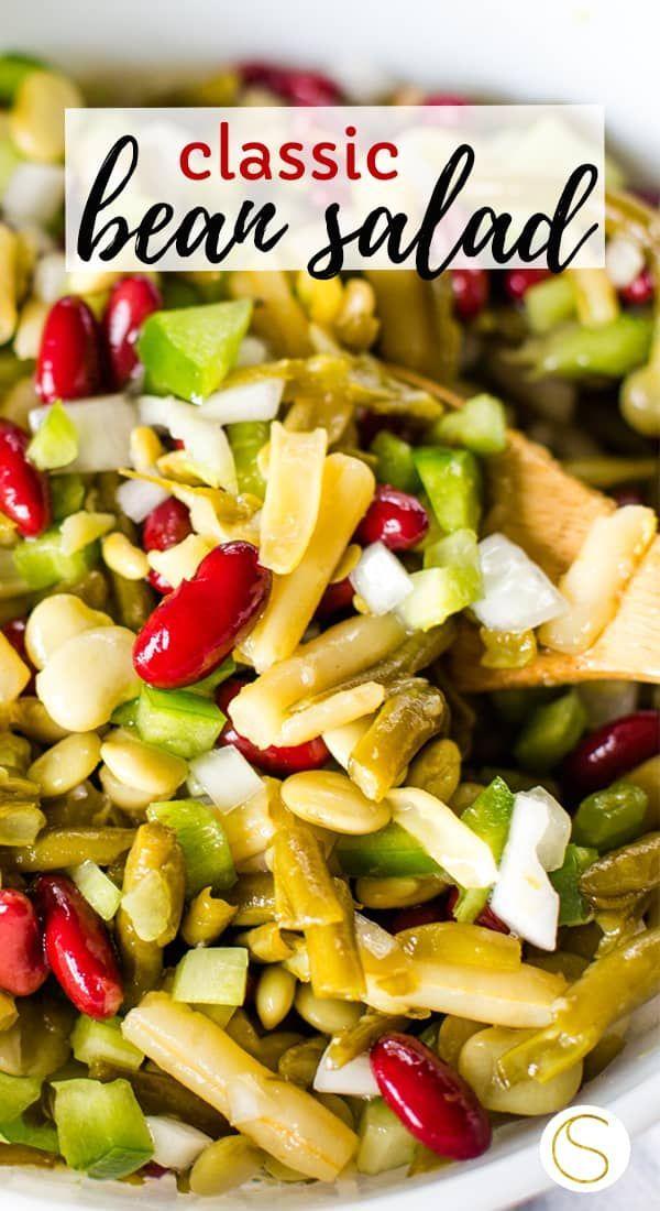 Classic Bean Salad Recipe In 2020 Bean Salad Recipes Bean Salad Potatoe Salad Recipe