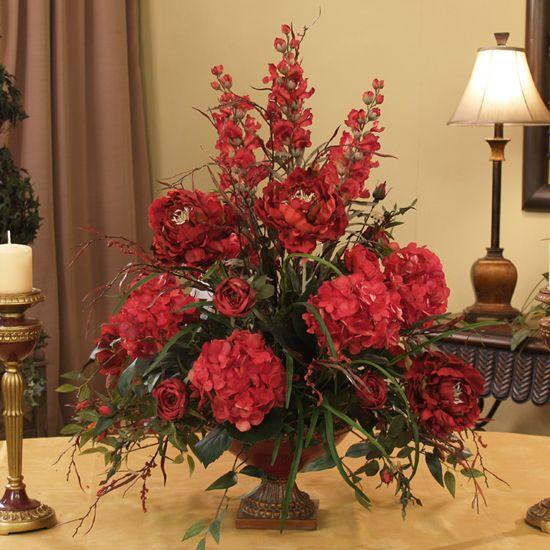 146 best flowers arrangements images on pinterest flower grande red silk floral design floral home decor florals arrangements faux flowers plant yep ive made this design mightylinksfo