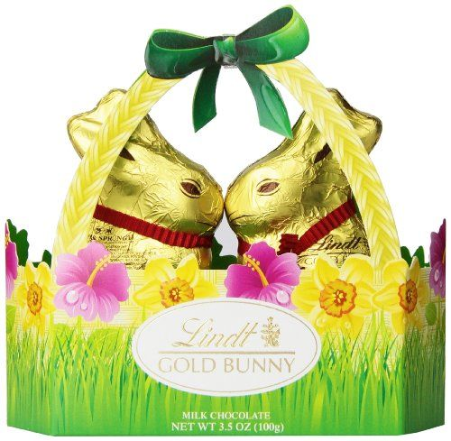 28 best last minute easter itemsstuff images on pinterest gift this unique basket features the lindt gold bunny in a smaller size made with lindt milk chocolate a very nice informal gift negle Images