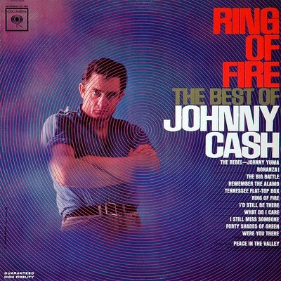 The Best Country Album Cover Artwork: 9. Johnny Cash - Ring of Fire