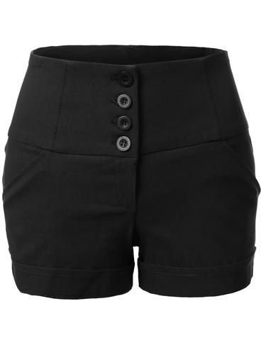 These retro-inspired high waisted anchor nautical sailor shorts with pockets are so on trend! The clean, sophisticated cut on these shorts makes it perfect for day or night. Wear it with a loose blouse or crop tops for a complete look. Feature 74% Rayon / 22% Nylon / 4% Spandex Lightweight with stretch for comfort Zip up closure / 2 Front pockets for convenience Hand wash cold or dry cleanning / Medium heat Made in U.S.A Please look at the measurements below for guidance S...