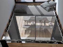 les 53 meilleures images du tableau filet pour habitation sur pinterest trampolines mezzanine. Black Bedroom Furniture Sets. Home Design Ideas