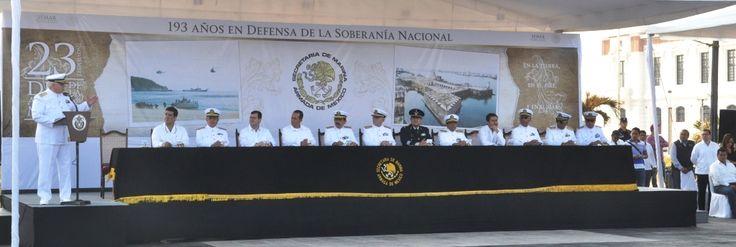 """Asisten marinos a la celebración del """"Día de la Armada de México"""", evento realizado por la Secretaría de Marina-Armada de México."""