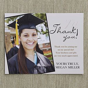 Personalized Graduation Thank You Cards - Refined Graduate - Graduation Gifts