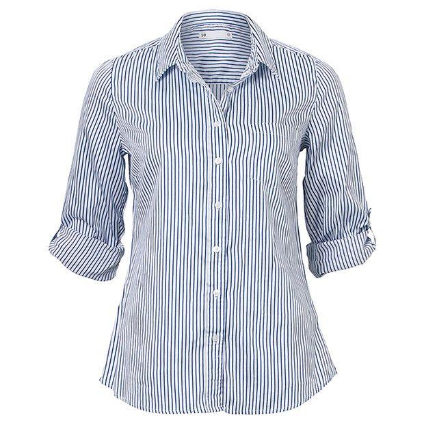 Cotton Boyfriend Spot Shirt - Twilight Blue