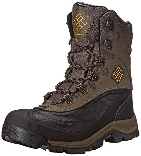 Columbia Men's Bugaboot Plus III Oh Wide Cold Weather Boot, Mud/Squash, 9 EE US