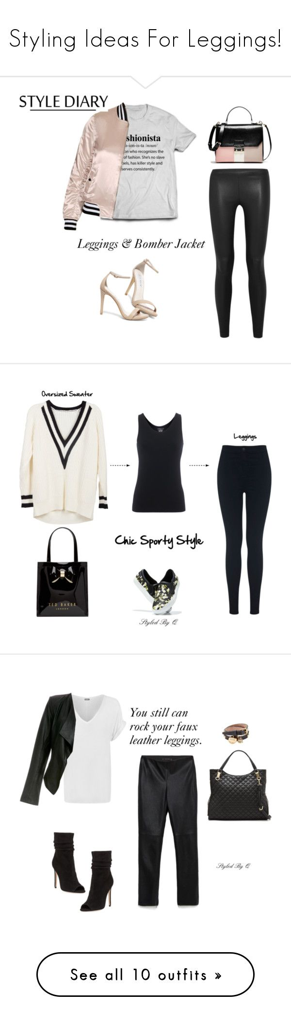 """Styling Ideas For Leggings!"" by quintan ❤ liked on Polyvore featuring Vince, Topshop, Steve Madden, Givenchy, Majestic Filatures, Miss Selfridge, Ted Baker, Zara, WearAll and Halston Heritage"