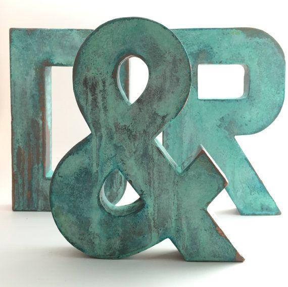 Faux Metal Letters - &