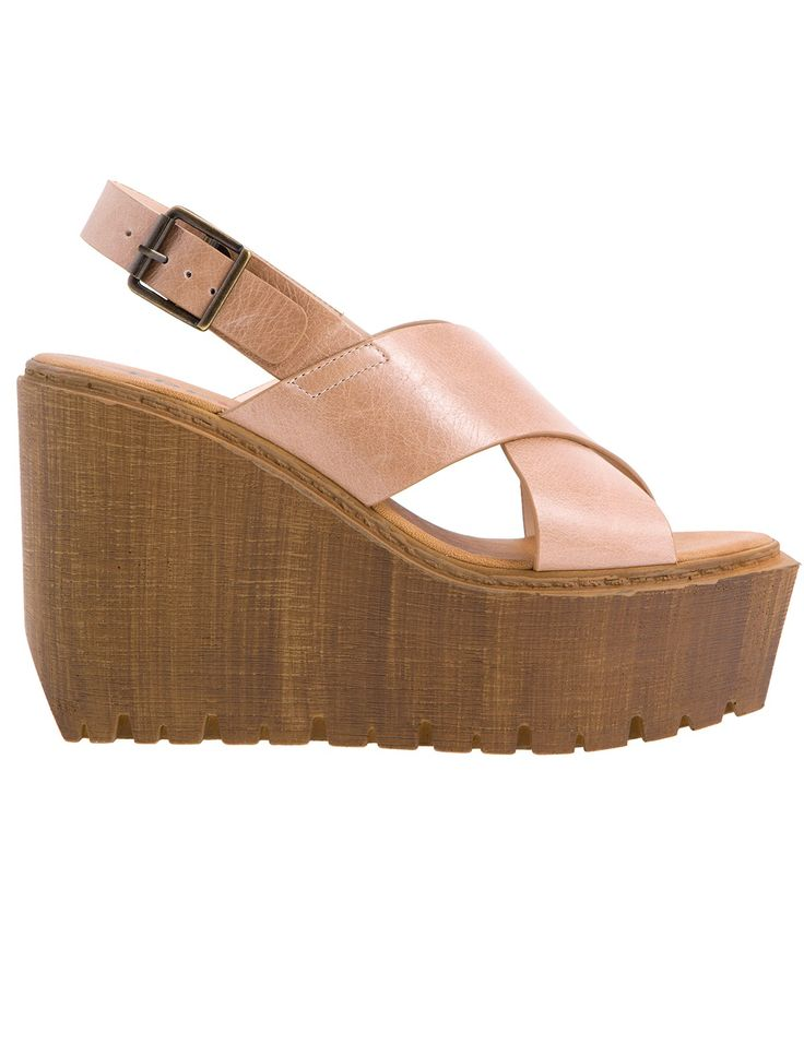 Adisa Taupe Leather Platforms S/S 2015 #Fred #keepfred #shoes #collection #leather #fashion #style #new #women #trends #high #taupe #platfoms #wedges