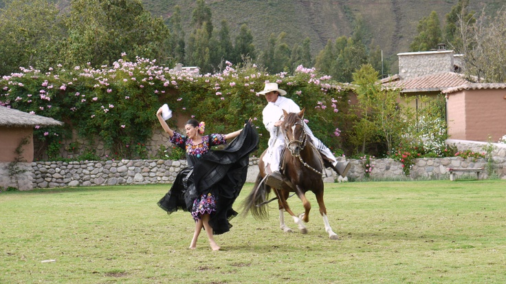 Wayra Ranch, dancer with Paso horse, photo by Joy Whitney