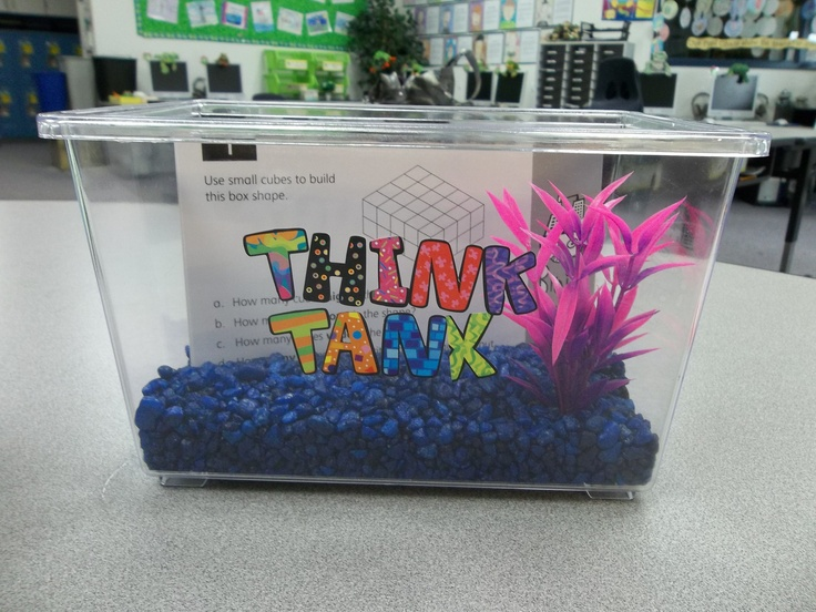 Think Tank- one of my Spring Break projects. Students can take a math challenge card from the Think Tank when they have completed their assigments. Can't wait to see how my students will like it!