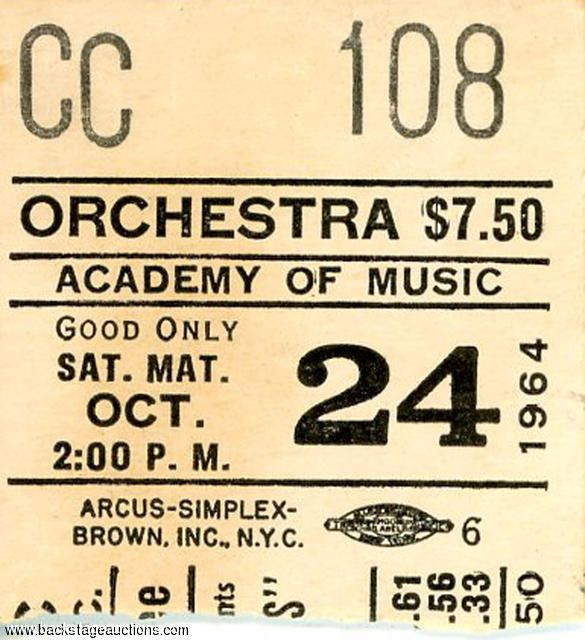 1611: The Rolling Stones 1964 N.Y. Academy of Music Concert Ticket & Original Photos - Store - Backstage Auctions, Inc.