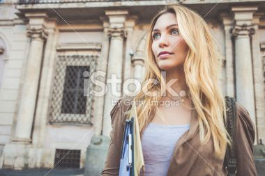 Professional woman outside the office Royalty Free Stock Photo