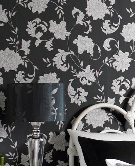 Black And Silver Bedroom Wallpaper Small Bedroom Colours Bedroom Hanging Chair White Or Black Bedroom Furniture: 13 Best Wallpaper Ideas For Our 1890's Victorian Images On