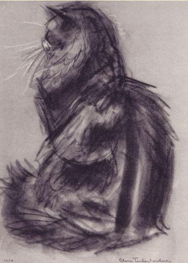Illustration by Clare Turlay Newberry,1956, Sunny-Land Pandora, Cats & Kittens a portfolio.