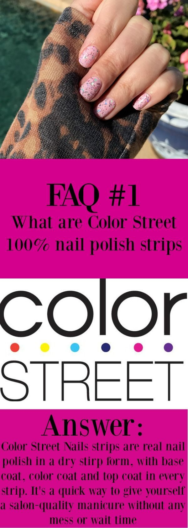 What is Color Street? Color Street 100% Polish Strips. No heat or special tools required. Can last up to 14 days. #colorstreet #colorstreetnails #nailpolish #diy #diynails #manicure #diymanicure