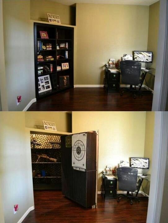 25 best ideas about hidden gun rooms on pinterest gun for Hidden gun room