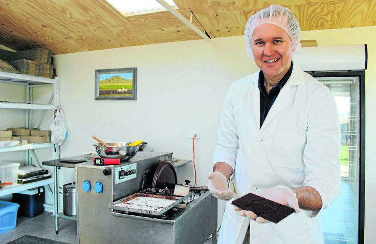 CANDIED: Luke Spencer of Spencer Cocoa is producing 400 chocolate bars per week from his tiny Mudgee-based operation. PHOTO: DARREN SNYDER