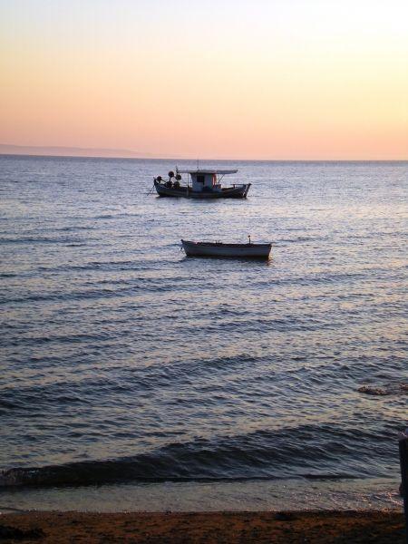 Nice mood with fishing boats in Nikiti