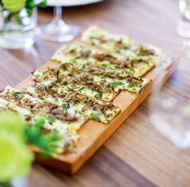 Wild Mushroom Tarte Flambee from Chef Daniel Boulud's new book, Daniel: My French Cuisine.