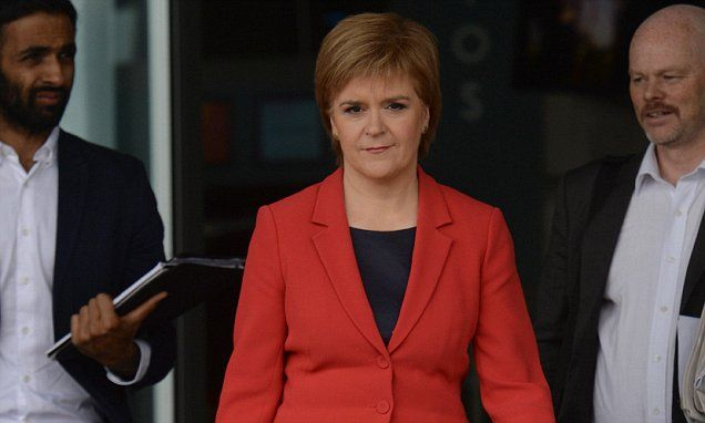 Sturgeon still playing to the Cameras just more Hot Air Scottish Parliament could BLOCK EU referendum result says Sturgeon
