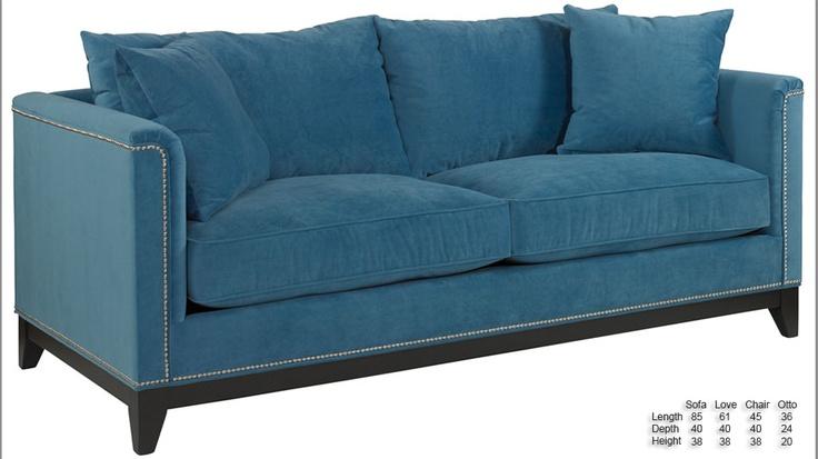 New classy nailhead sofa made in usa 300 fabrics oh for Furniture mattress outlet rancho cordova ca