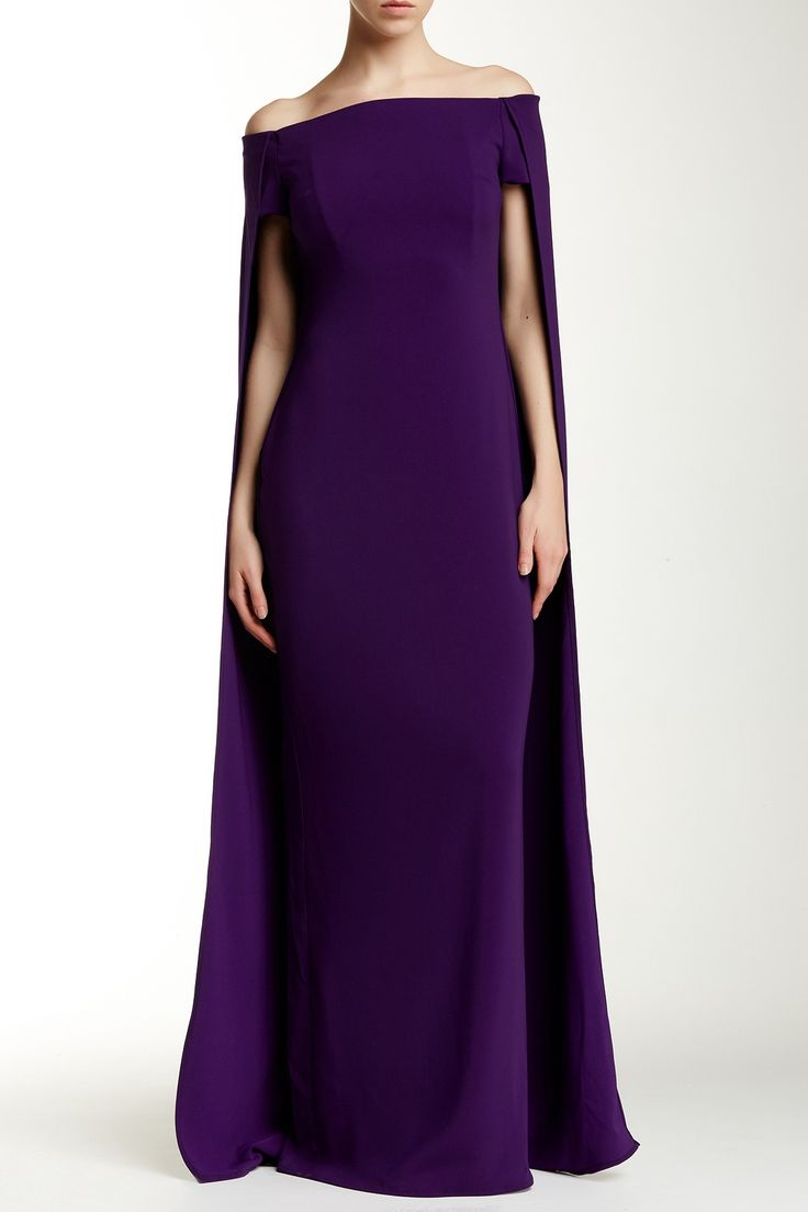 Cape Accent Gown by Issue New York on @nordstrom_rack Sponsored by Nordstrom Rack.