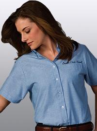Women's Oxford Fashion Shirt - Short Sleeve from Best Buy Uniforms. http://www.bestbuyuniforms.com/oxford-shirts/112-womens-oxford-fashion-shirt-short-sleeve.html