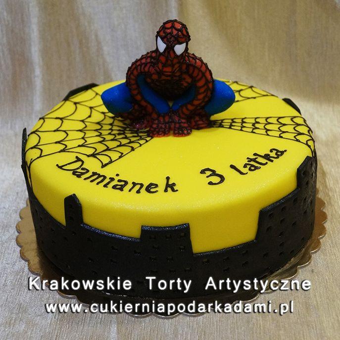 106. Żółty tort ze Spidermanem. Yellow cake with Spiderman.
