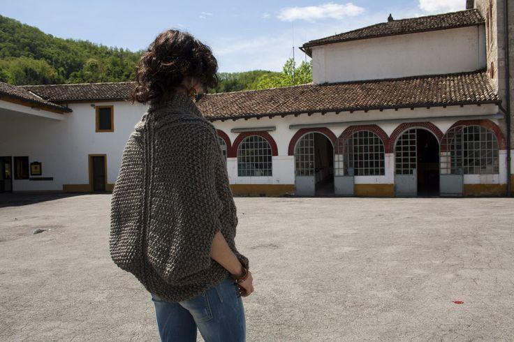 handmade maxi cardigan in wool, alpaca, acrylic € 95