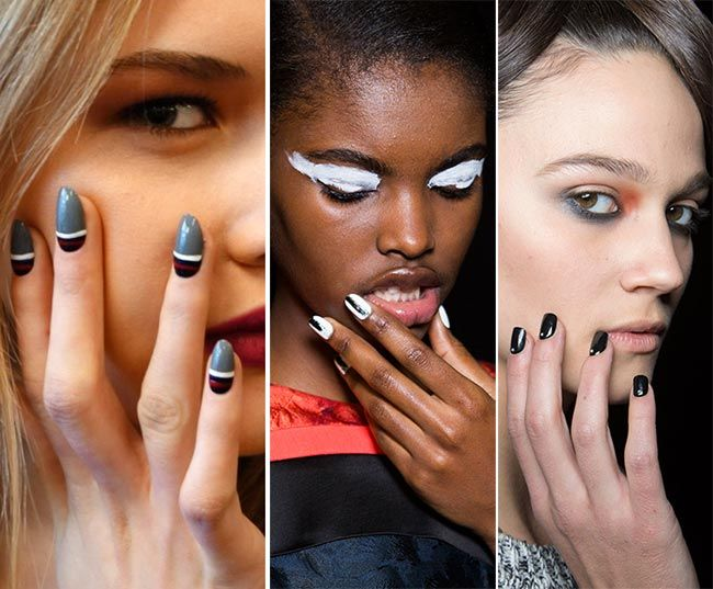 The Black and White Combo Fall/ Winter 2015-2016 Nail Trends: Black and White Nails