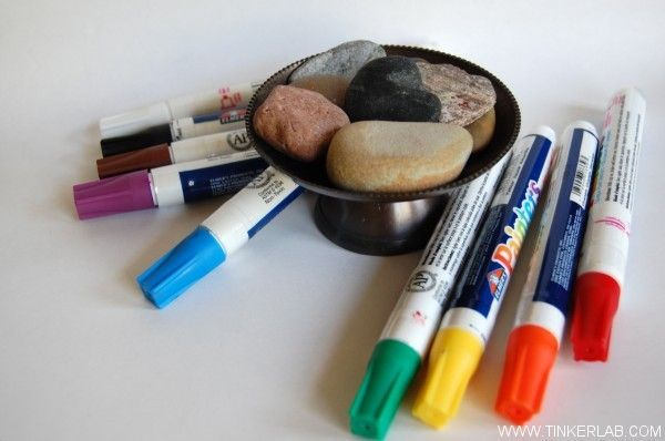 rock painting - get some of these markers to take to Lake Superior