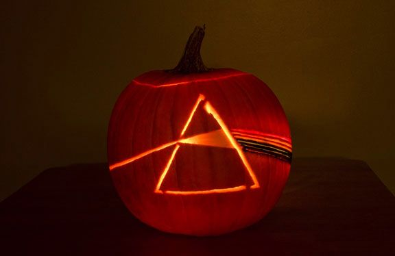 Pink Floyd Dark Side of the Moon pumpkin carving UsAndFloyd.com