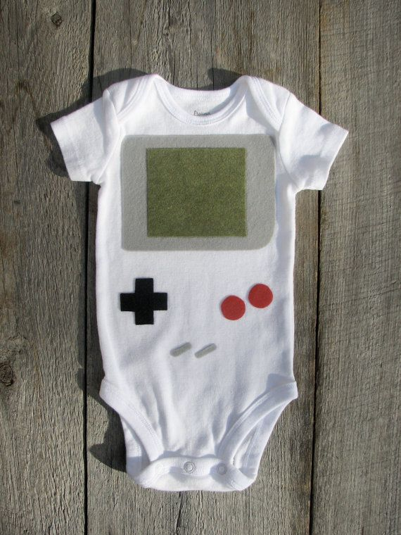 @Aaron Kapor Hall Nintendo Gameboy Baby Clothes. $22.00, via Etsy.