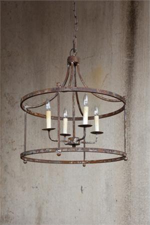 *actual* Living Room Light!! Large Iron Porter Pendant: