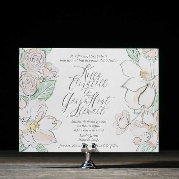 English Garden Wedding Invitation By Chelsea Petaja For Bella Figura Customize Yours With Paper Passionista