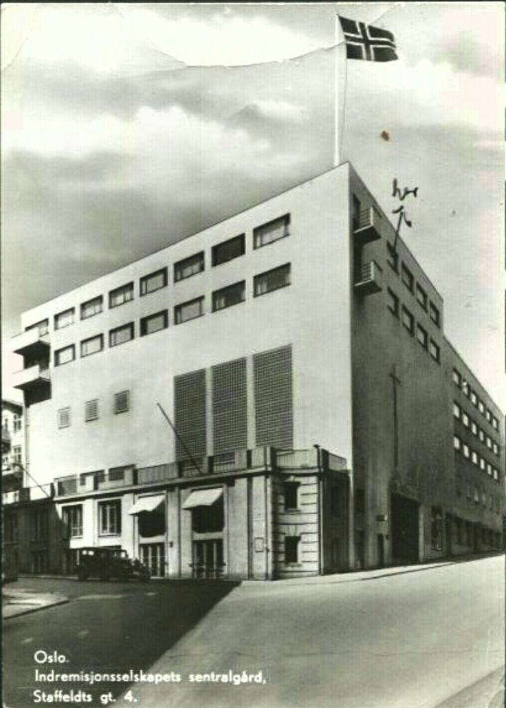 Oslo Indremisjonsselskapets sentralgård, Staffeldts gt. 4. Stemplet 1951
