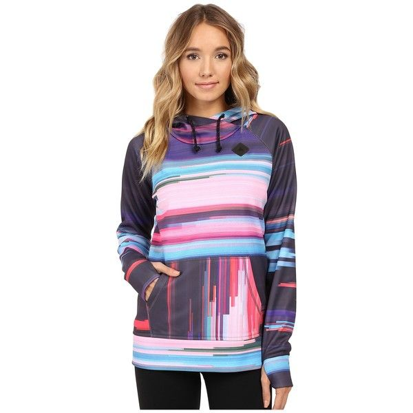Burton Heron Pullover Hoodie (Flynn Glitch) Women's Fleece ($70) ❤ liked on Polyvore featuring tops, hoodies, burton hoodie, sweater pullover, burton hoodies, hoodie pullover and pullover hoodies