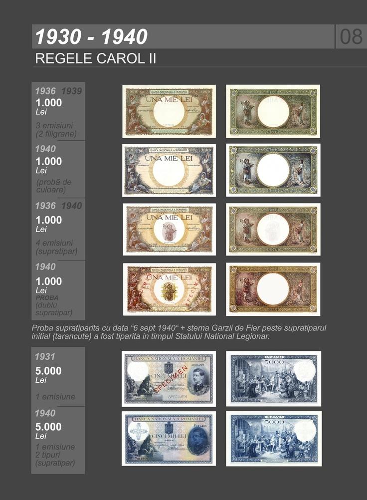 Romanian banknotes 1930-1940