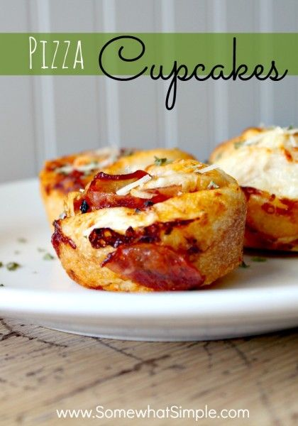 A must-make recipe. Easy and delish! Pizza Cupcakes