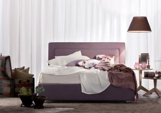 """Cassandra"" upholstered bed by Berto Salotti (Meda, Italy). 100% hand made in Brianza, by Italian Master Artisans."