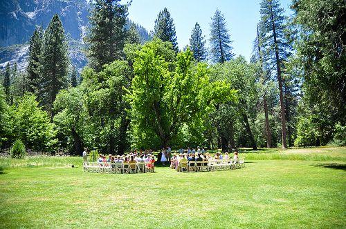 Laura & Martijn's outdoor colorful Yosemite wedding