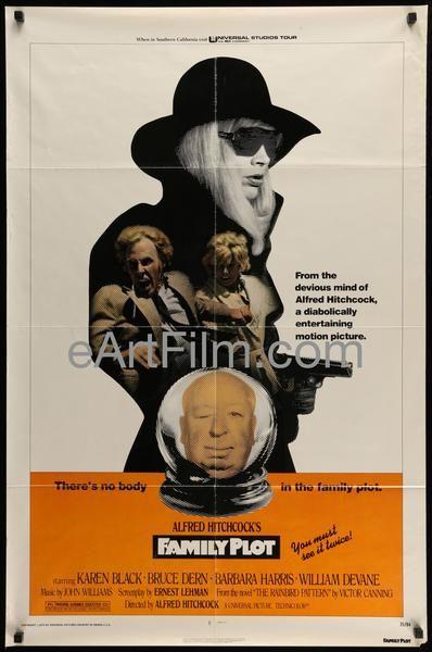 Happy Birthday #BruceDern https://eartfilm.com/search?q=bruce+dern #actors #acting #Nebraska #FamilyPlot #Hitchcock #cominghome #Tarrantino #AlexanderPayne #movie #movies #poster #posters #film #cinema #movieposter #movieposters    Family Plot 1976 27x41 Original U.S One Sheet Hitchcock's final film