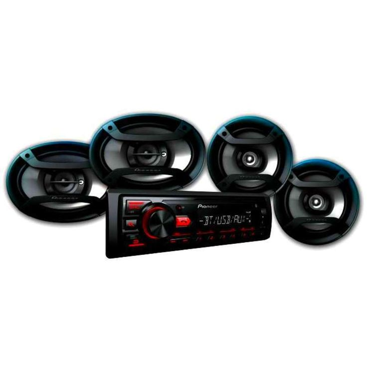 """Pioneer Bluetooth Car Stereo Receiver 2x 6.5"""" Speakers 2x 6"""" X 9"""" USB Aux In #Pioneer"""