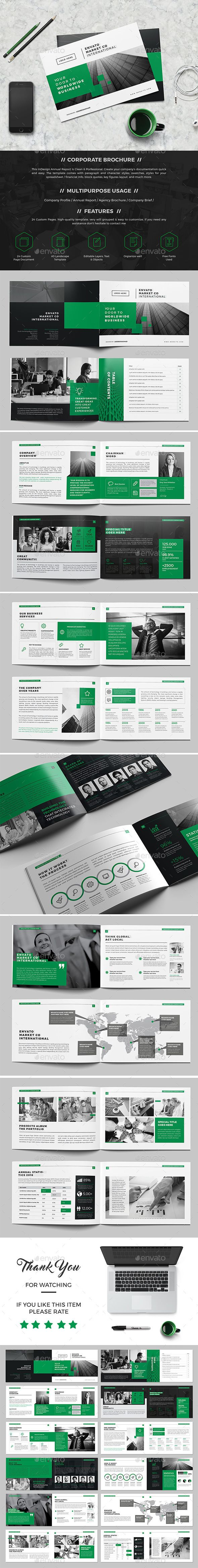 Green Landscape Brochure 24 Pages #corporate #creative #design • Click here to download ! http://graphicriver.net/item/green-landscape-brochure-24-pages/15913424?ref=pxcr