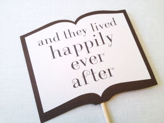 Happily Ever After Storybook Sign - Wedding Photo Booth Props - Wedding Reception on Etsy, $4.55 CAD