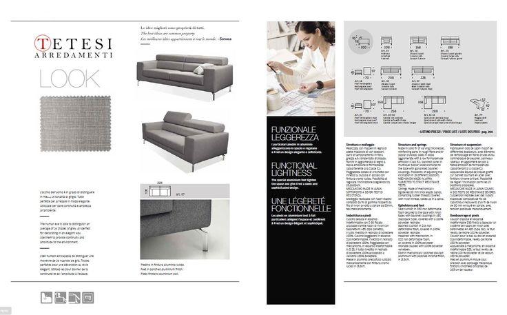 Piedini in finitura alluminio lucido che alleggeriscono lo spazio e regalano a un #designELEGANTE e #sofisticato.