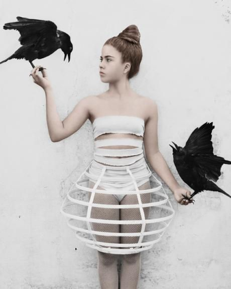 Cage Skirt - sculptural fashion, artistic fashion photography // Ph. Vee Speers
